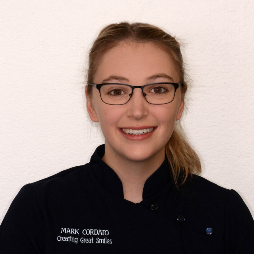 Abbey is an orthodontic assistant for Mark Cordato, Orthodontist, at Creating Great Smiles. Abbey facilitates efficient treatment be it braces, Invisalign or appliances.
